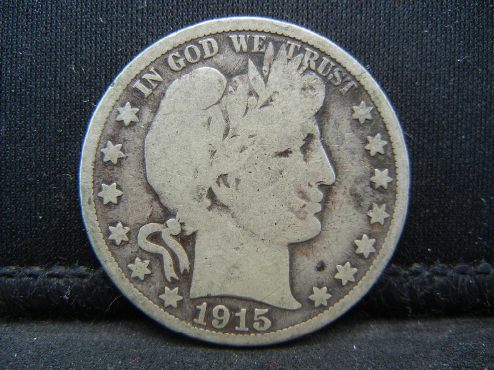 Lot 10B: 1915-S Barber Half Dollar