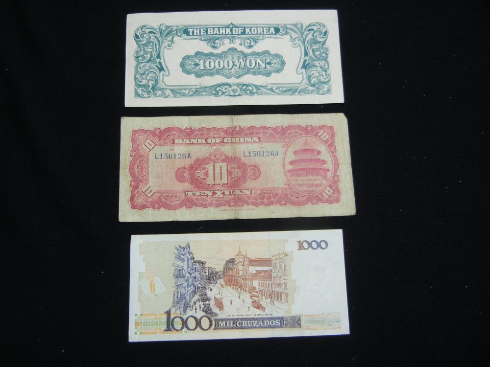 Lot 22N: 1950 South Korea 1000 Won Banknote. Serial # 529