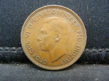 Lot 25N: 1941 Great Britain 1 Farthing.