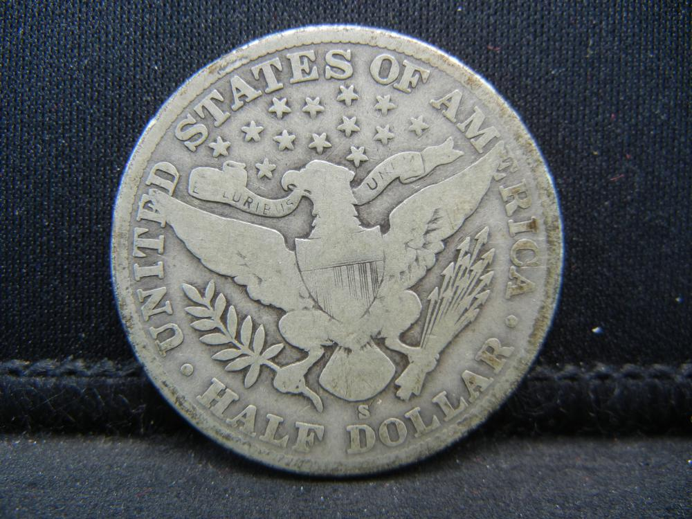 Lot 12B: 1911-S Barber Half Dollar