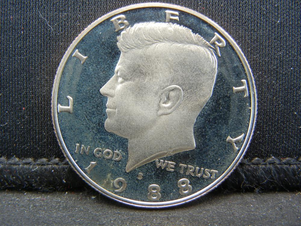 1988-S Proof Kennedy Half Dollar.