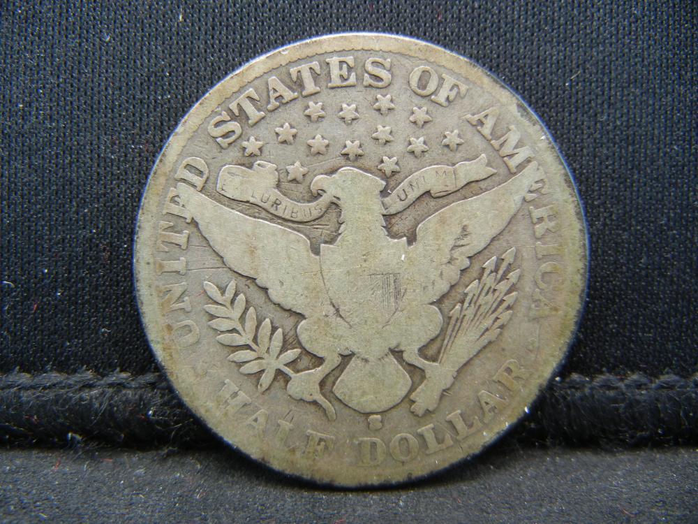 Lot 13B: 1908-S Barber Half Dollar