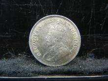 Lot 26N: 1911 Canada Five Cents Sterling Silver Coin