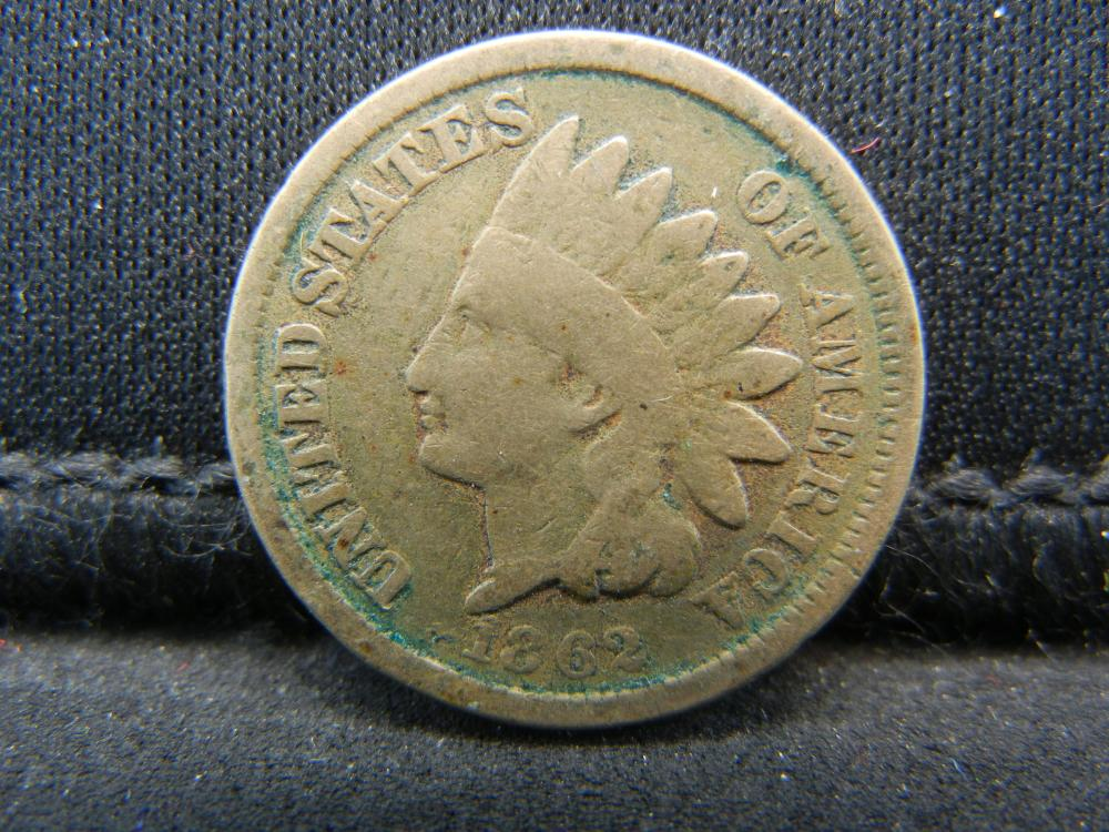 1862 Copper Nickel Indian Head Cent.  Civil War Year.
