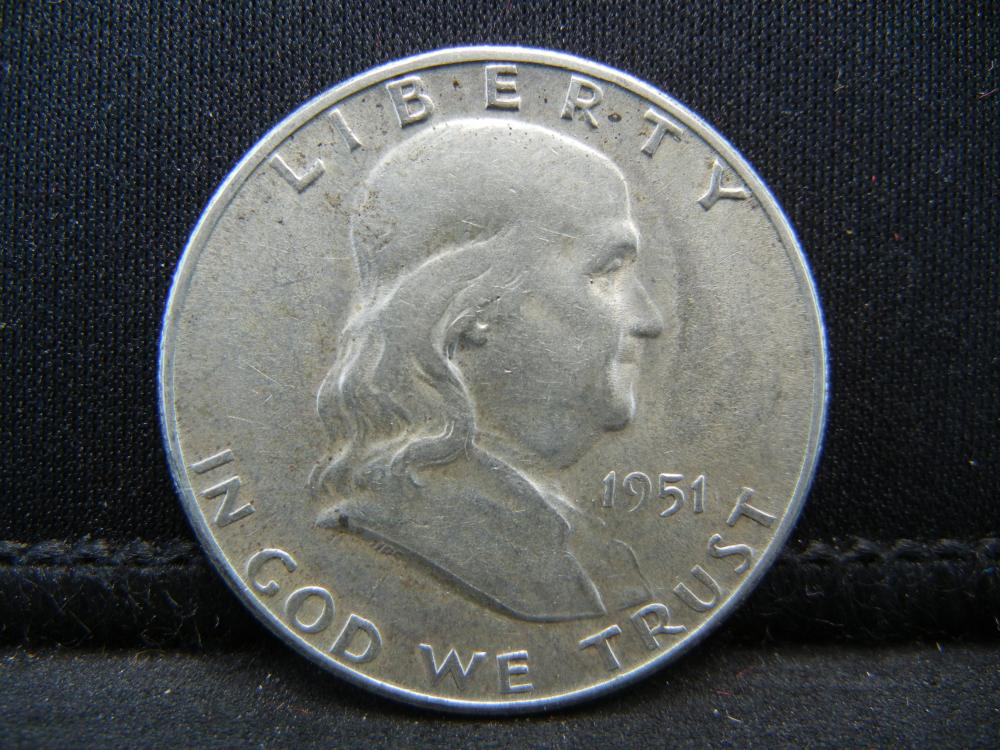 Lot 19B: 1951-S Franklin Half Dollar
