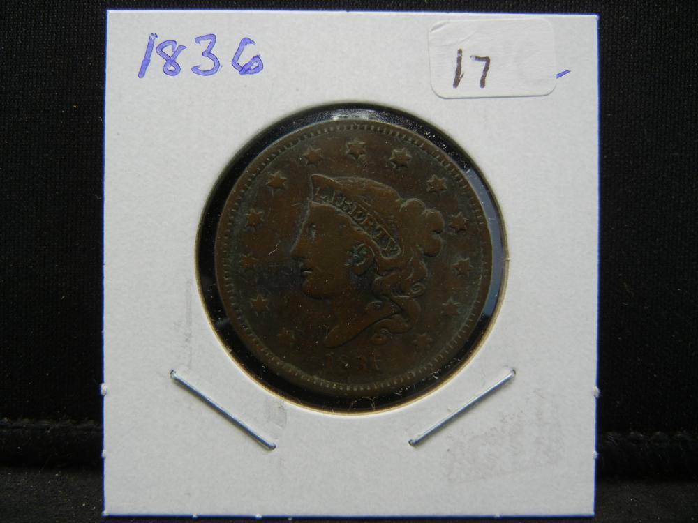 Lot 17: 1836 US Large Cent. Fine.