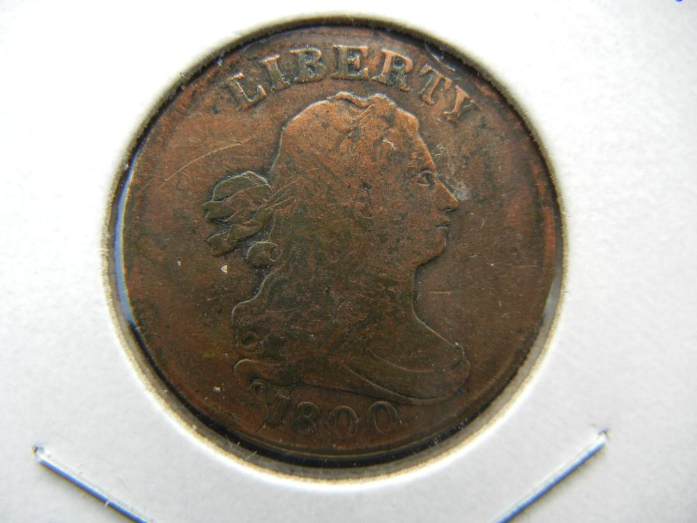 1800 Draped Bust US Half Cent.  Very Good detail.