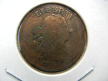 Lot 16: 1800 Draped Bust US Half Cent. Very Good detail.