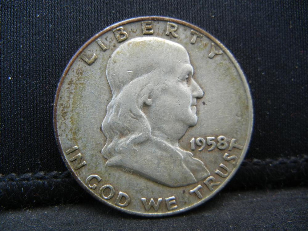 1958-D Franklin Half Dollar