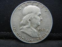 Lot 25B: 1959-D Franklin Half Dollar