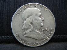 Lot 26B: 1957-D Franklin Half Dollar