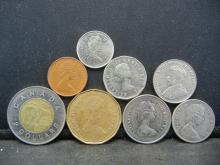 Lot 30C: (8) CANADIAN COINS, SOME UNCIRCULATED!