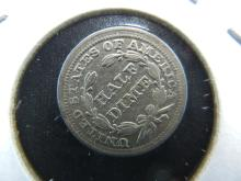 Lot 25: 1855 US Half Dime. Extremely Fine.