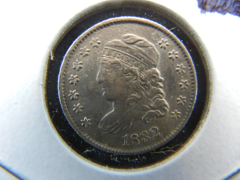 1832 Capped Bust Half Dime.  Almost Uncirculated Detail.