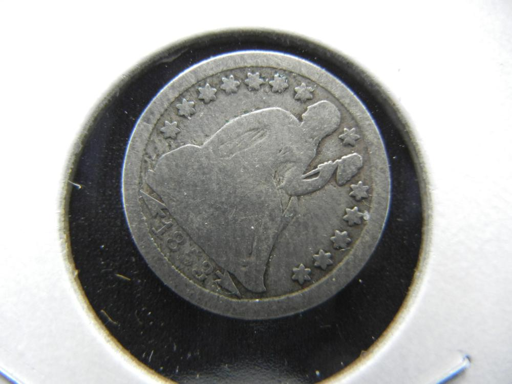1853 Seated Dime.  Good.