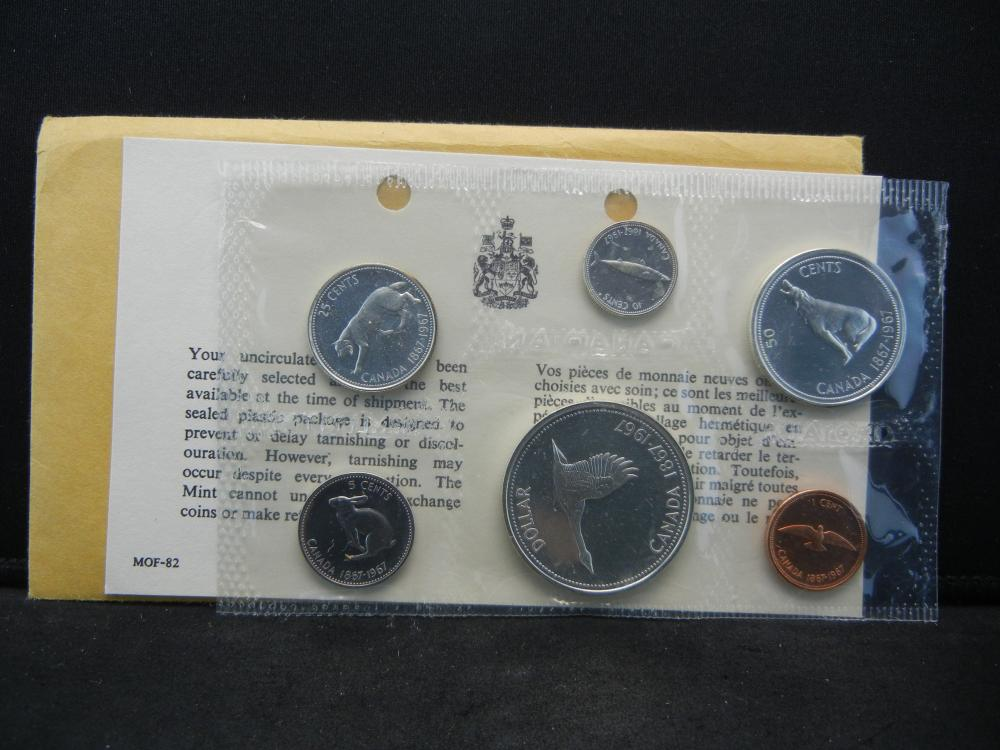 1967 Canada  Proof-like set in original package.  Great animal set.  $1.85 face in silver.