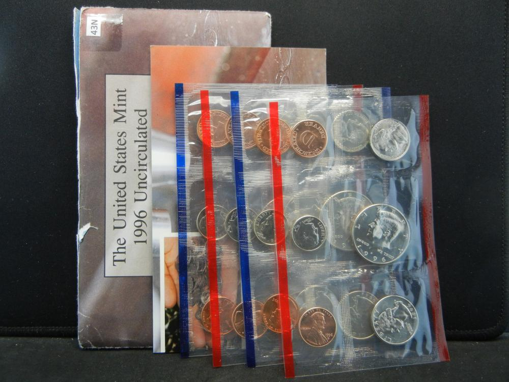 Lot 43N: 1996 20 Coin United States Mint Set With Original Packaging & COA.