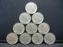 Lot 35C: (10) 1935 BUFFALO NICKELS, BOLD DATES, 84 YEARS OLD