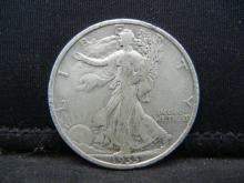 Lot 38C: 1935-S SILVER LIBERTY (90%) HALF, ONLY 3.8 MILL MINTED/84 YRS OLD