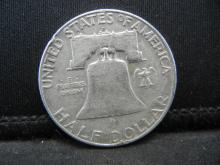 Lot 46C: 1960-D SILVER LIBERTY (90%) HALF, 59 YRS OLD
