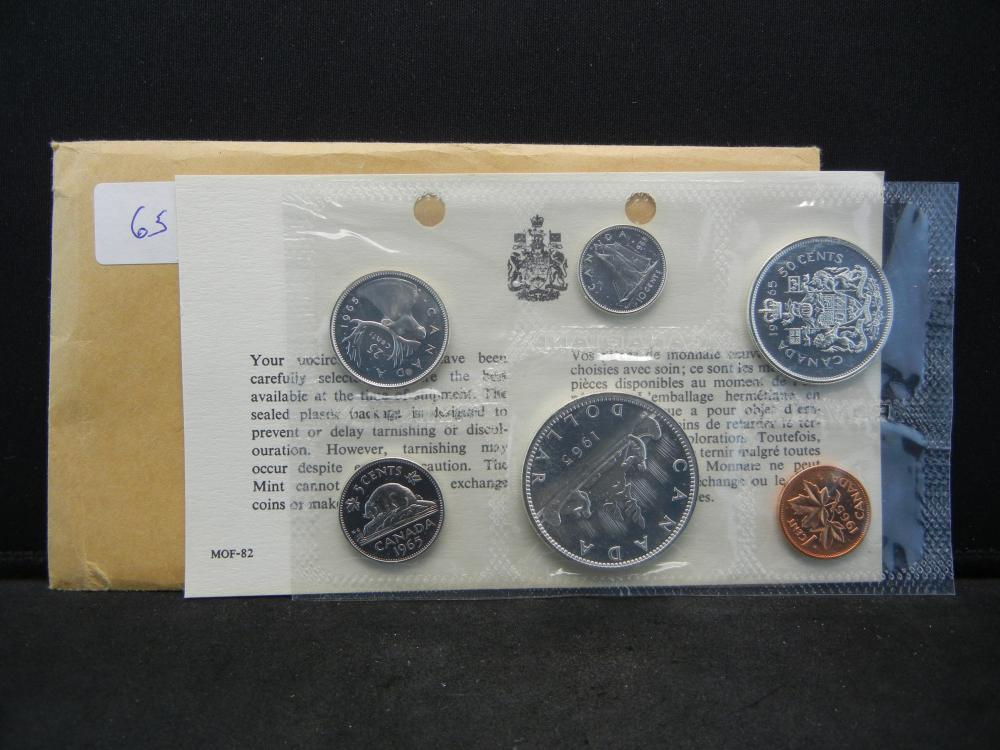 1965 Canada  Proof-like set in original package.  $1.85 face in silver.