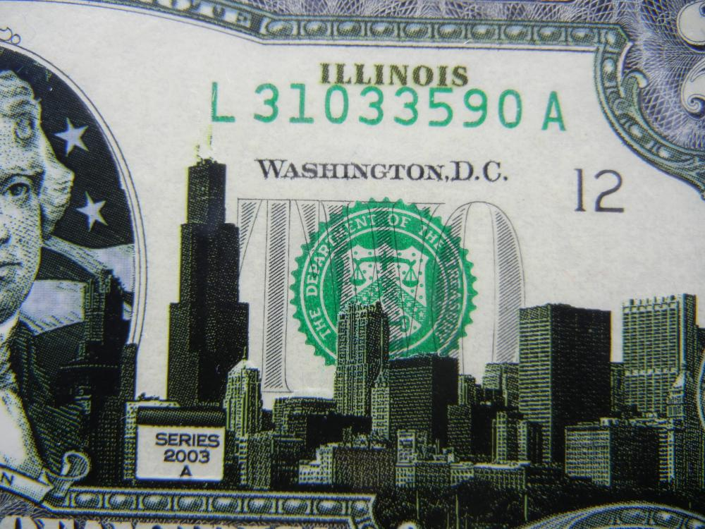Lot 3A: (2) Series 2003A $2 Bills modified to show scenes from Delaware and Illinois. Neat. Crisp Uncirculated.