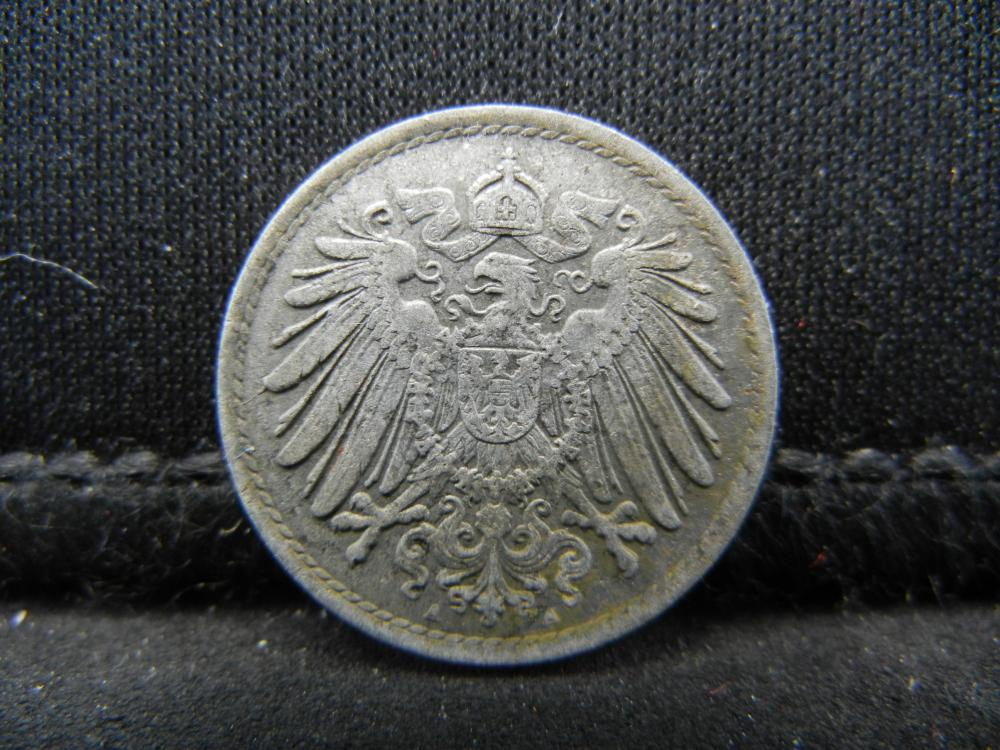 Lot 41C: 1915 GERMAN EMPIRE, 5 PFENNIG, 104 YRS OLD!