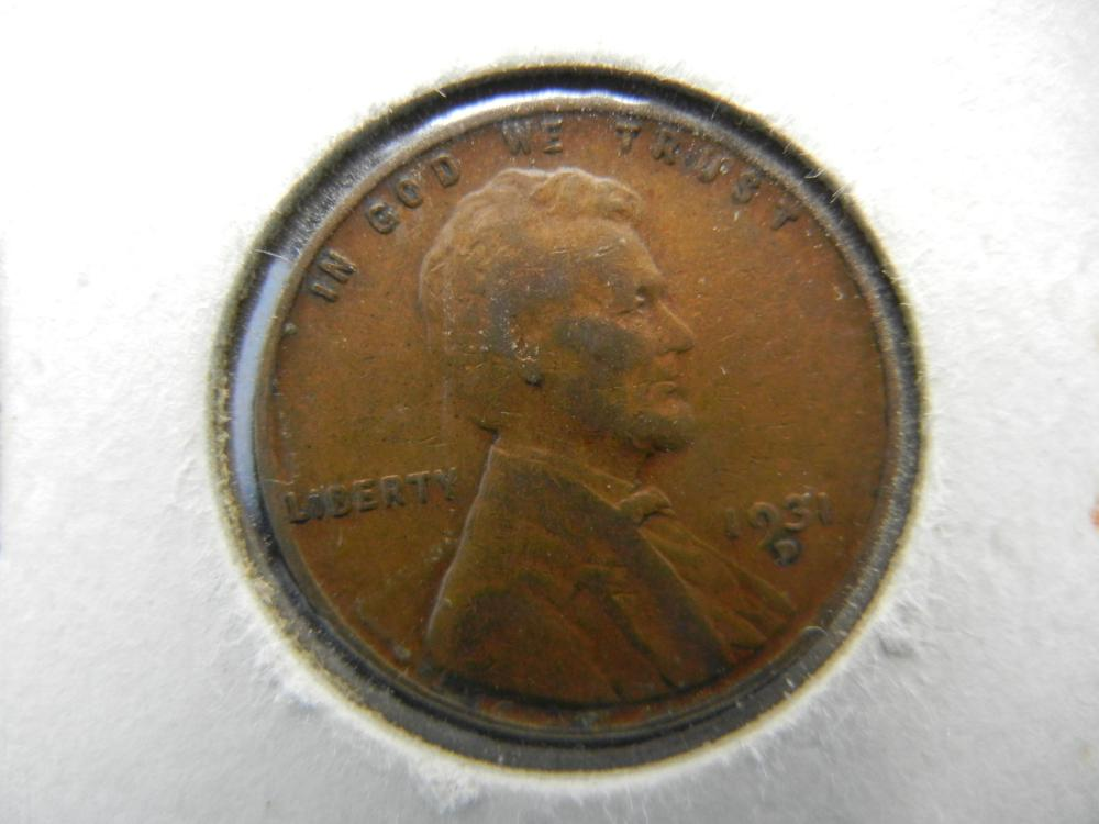 Lot 43B: 1931-D Lincoln Wheat Cent