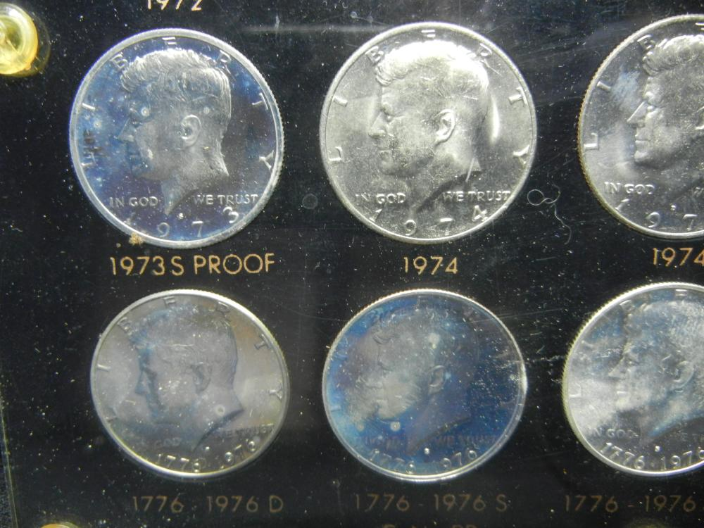 Lot 45B: 1964-1976 Kennedy Half Dollar Collection. Nice Collection