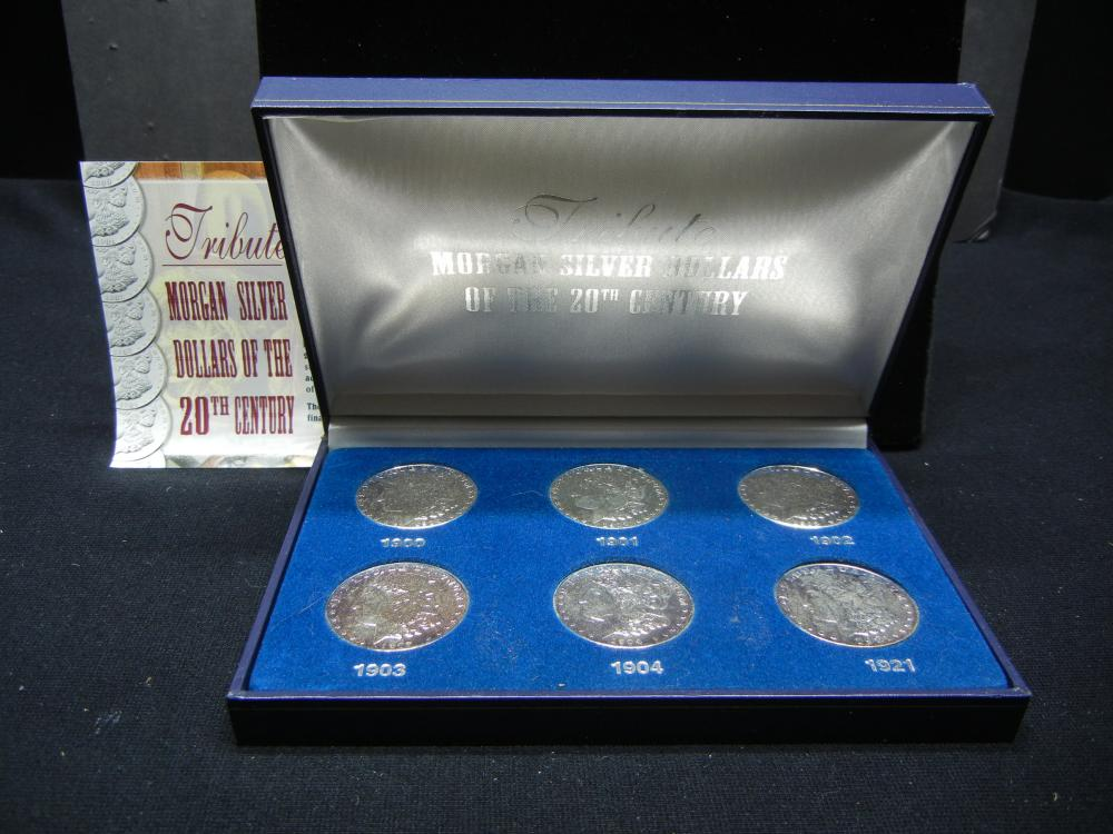 Morgan Silver Dollars of The 20th Century Tribute Set