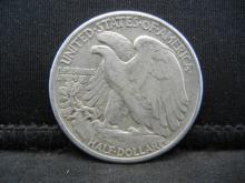 Lot 53C: 1943 SILVER LIBERTY (90%) HALF, WWII ERA/76 YRS OLD,