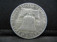 Lot 55C: 1962-D SILVER LIBERTY (90%) HALF, 57 YRS OLD