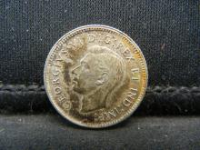 Lot 56C: 1947 SILVER (80%) CANADIAN 10 CENTS,