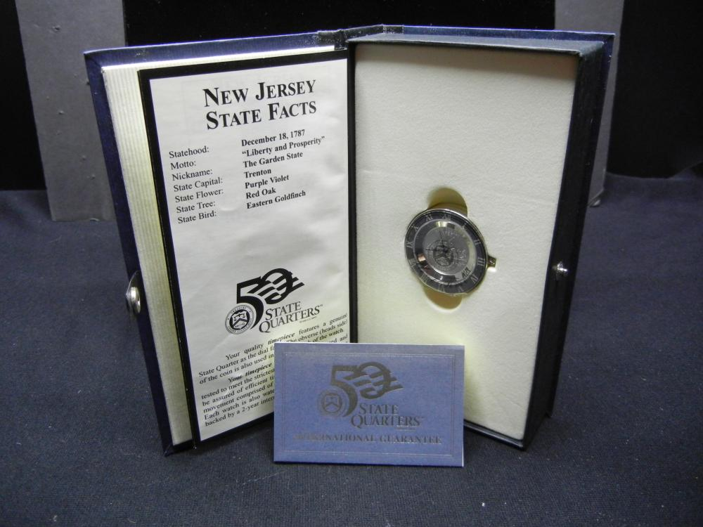 1999 New Jersey State Quarter Clock - New In Box - Rare Find
