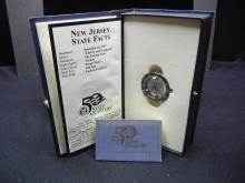 Lot 5Y: 1999 New Jersey State Quarter Clock - New In Box - Rare Find