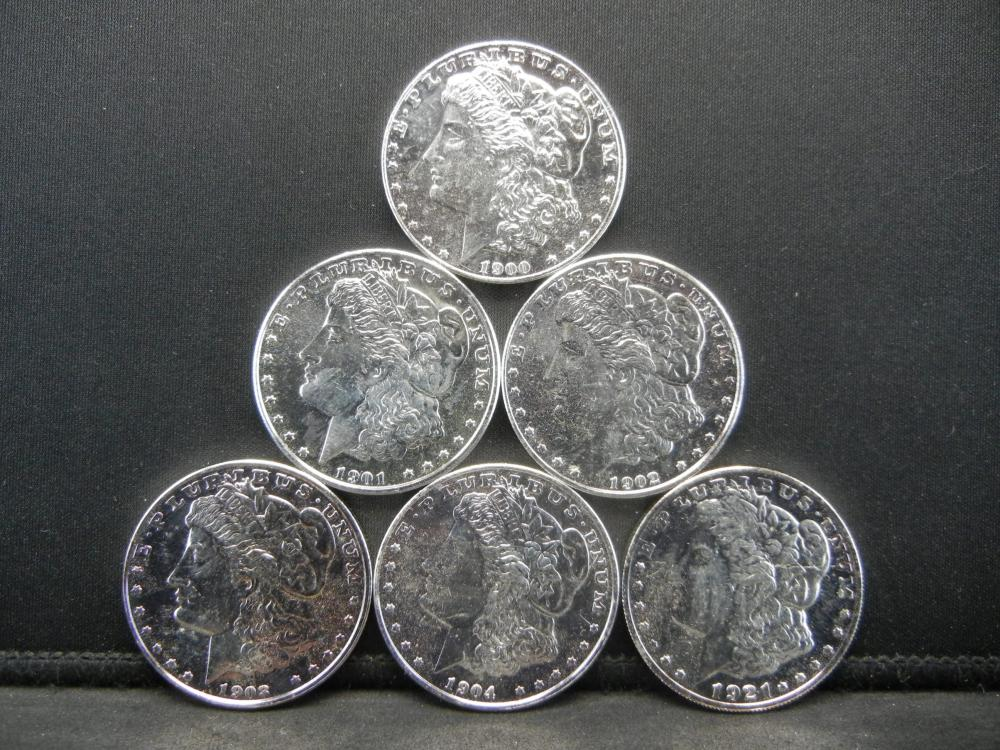 Lot 4Y: Morgan Silver Dollars of The 20th Century Tribute Set