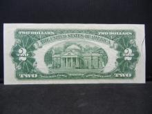 Lot 15: 1953 B $2 Red Seal. A STAR Replacement Note. Nice XF. Low SN