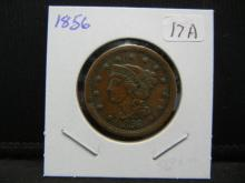 Lot 17A: 1956 US Large Cent. Extremely Fine.