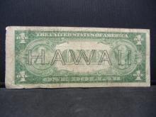 Lot 13: 1935 A $1 Silver Certificate. Hawaii Emergency Currency. Fine