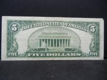 Lot 13A: 1953 B $5 Red Seal. Very Fine.