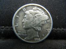 Lot 2S: 1938-D Mercury Dime