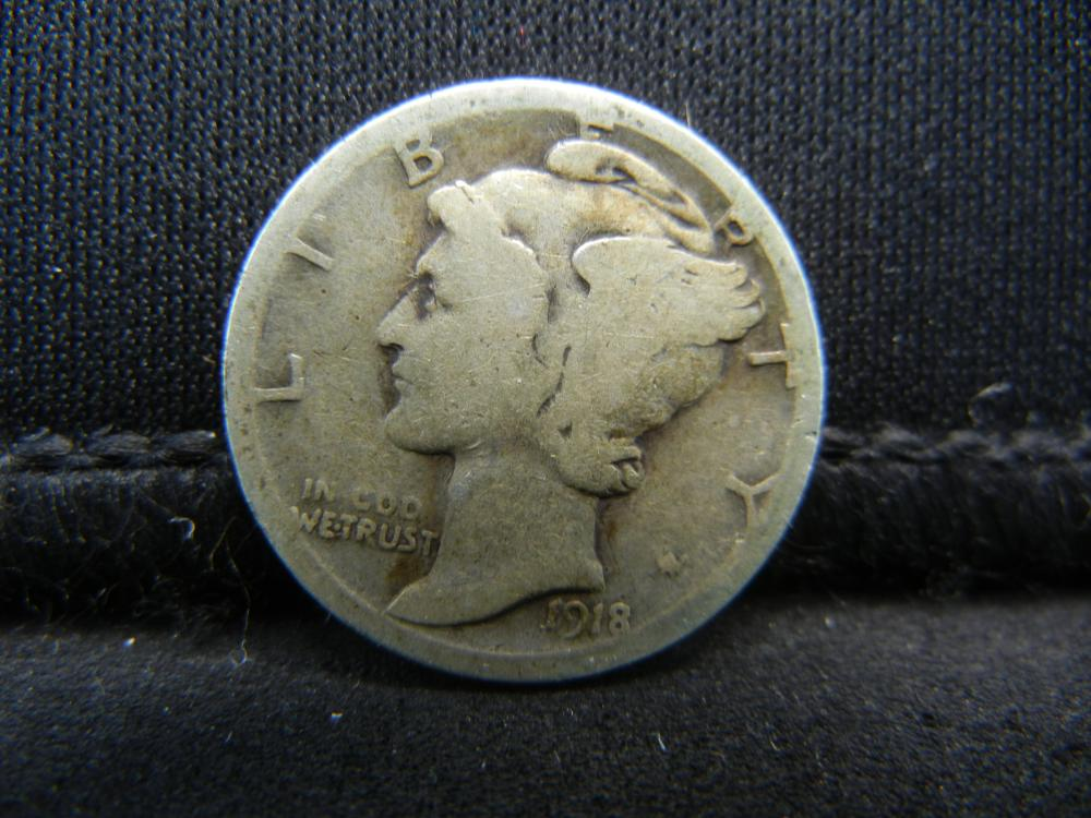 Lot 10S: 1918-S Mercury Dime