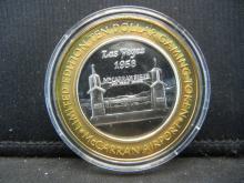Lot 47B: Limited Edition $10.00 Las Vegas .999 Fine Silver Gaming Token McCarran Airport