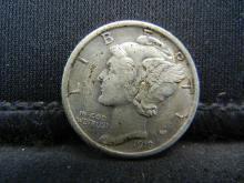 Lot 8S: 1918-D Mercury Dime