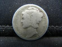 Lot 11S: 1919-D Mercury Dime
