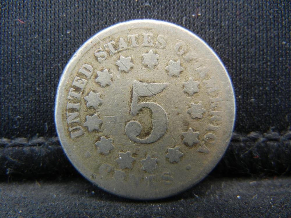 Lot 49B: No Date Shield Nickel