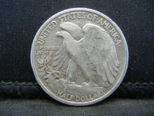 Lot 62C: 1936-S SILVER LIBERTY (90%) HALF, ONLY 3.9 MILL MINTED/83 YRS OLD, INCREDIBLE COIN!