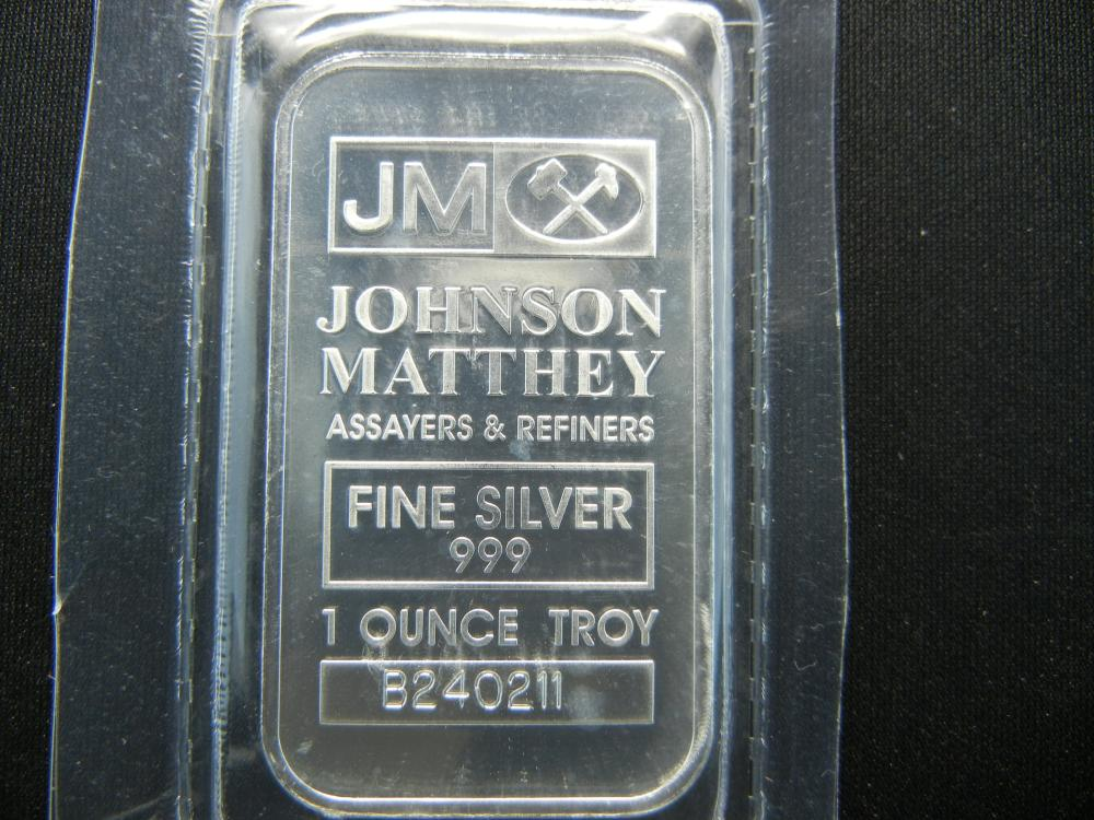 Lot 61C: JOHNSON MATTHEY, 1 OUNCE, .999 PURE SILVER, PROOF, SEALED
