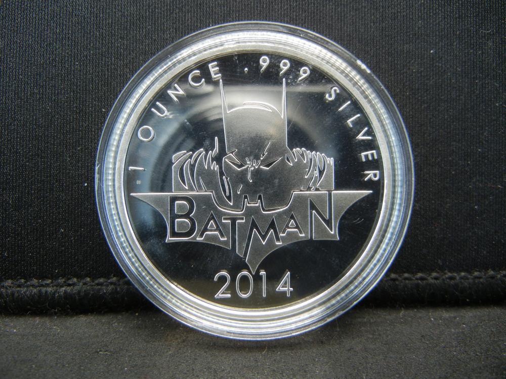 Lot 63C: (BATMAN/1 OUNCE), Encapsulated For Future Preservation, Novelty