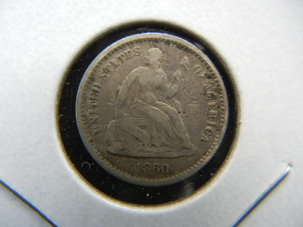 1860-O US Half Cent.  Very Fine.